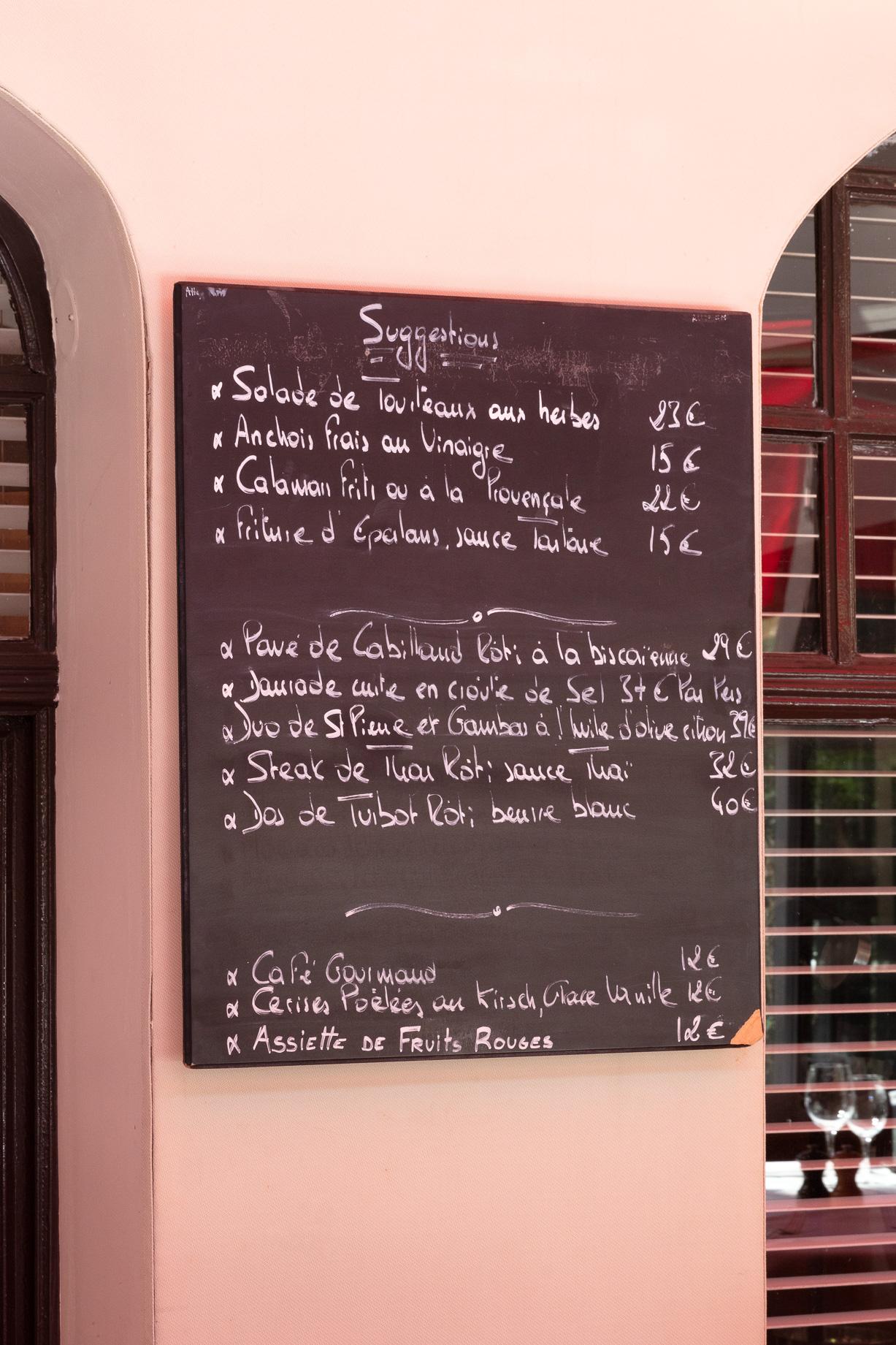 Restaurant Marius, spécialité de la mer